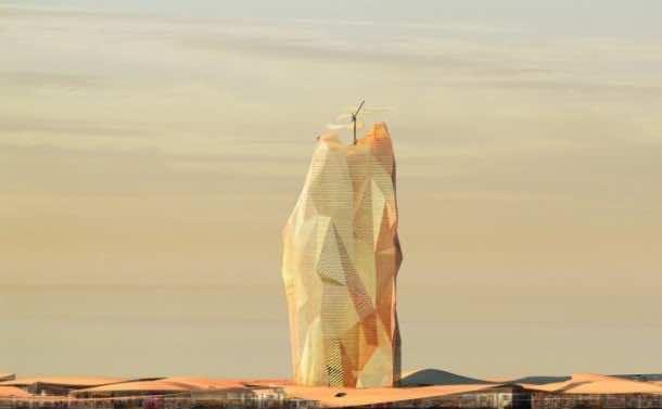 Vertical City Concept For Sahara