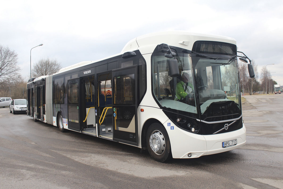Volvo's First Electric Bus Service Started In Sweden