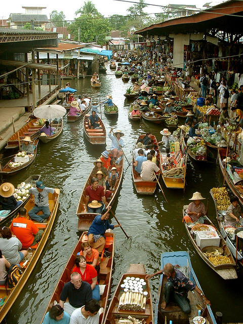 You'll Need A Bag And A Boat For This Market In Thailand