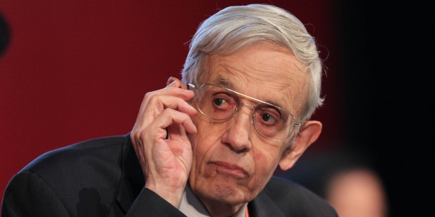 BEIJING, CHINA - SEPTEMBER 28:  (CHINAOUT) American mathematician John Forbes Nash looks onduring day one of the 2011 Nobel Laureates Beijing Forum at the National Museum on September 28, 2011 in Beijing, China. The 2011 Nobel Laureates Beijing Forum will kick off on September 28 and last to September 30 with the theme of Innovation and Development.  (Photo by ChinaFotoPress/Getty Images)