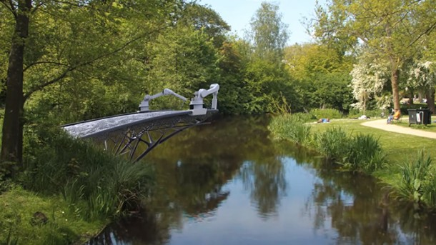 3D Printer To Print A Bridge Over A Canal In Amsterdam 3