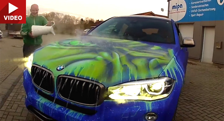 guy throws hot water on his bmw what happens next to the car colour will blow you away. Black Bedroom Furniture Sets. Home Design Ideas