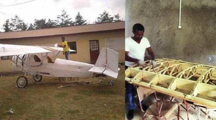 Ethiopian man's DIY plane