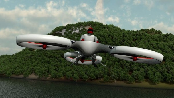 Flike personal tricopter Completes First Manned Flight 3
