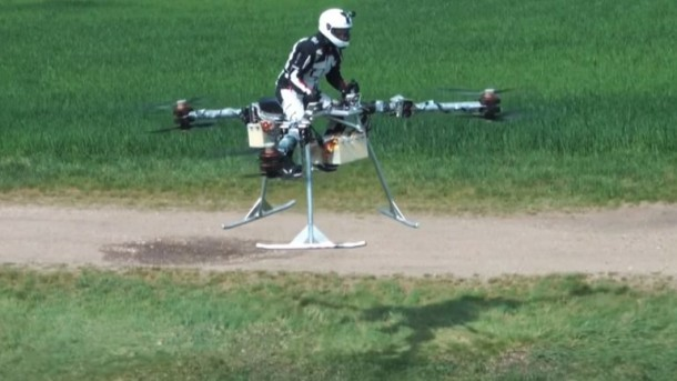 Flike personal tricopter Completes First Manned Flight 5