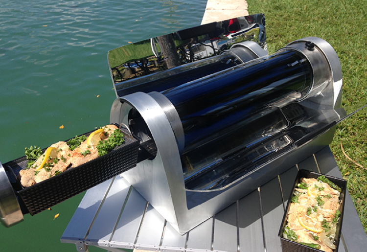 Solar Powered Grill ~ New solar oven can cook food during the day and night