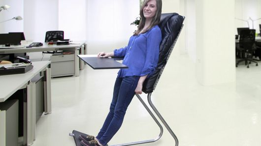 Leanchair Offers A Healthy Alternative To Sitting On
