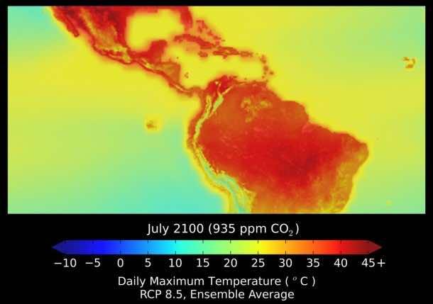 NASA climate dataset 2100-2