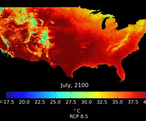 NASA climate dataset 2100