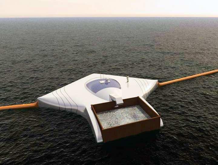 Ocean cleanup machine