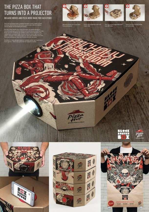 Pizza box projector 7