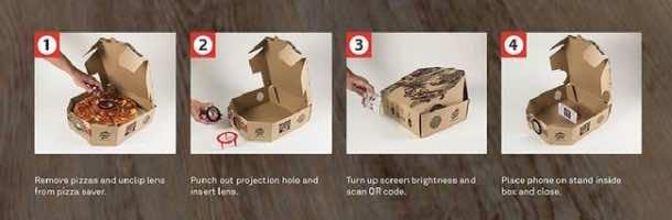 Pizza box projector2
