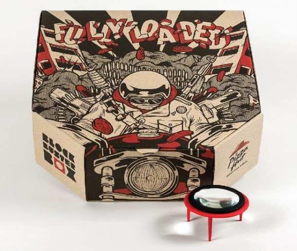 Pizza box projector4