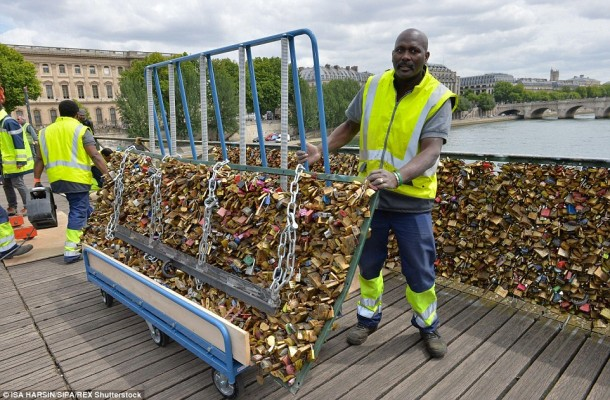 Removal of locks In Paris
