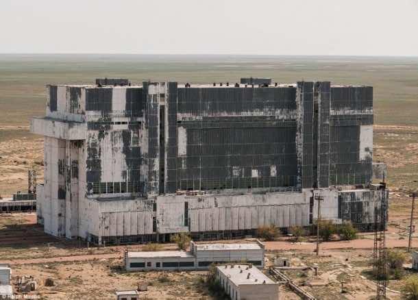 Russian abandoned shuttle hanger