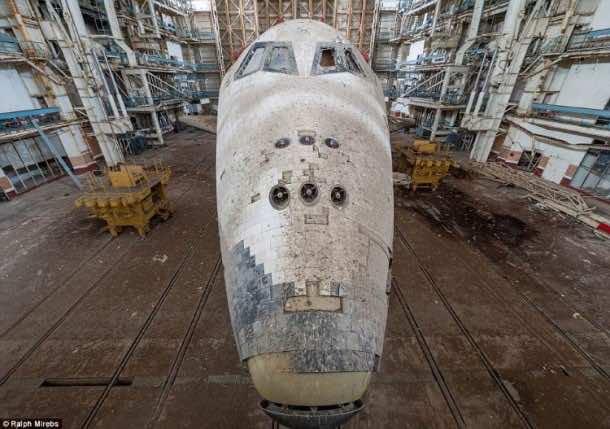 Russian abandoned shuttle hanger13