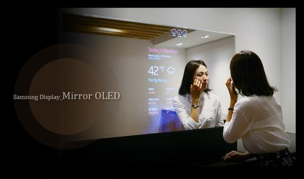 Samsung Unveils Mirror and Transparent OLED Panels Samsung Unveils Mirror and Transparent OLED Panels