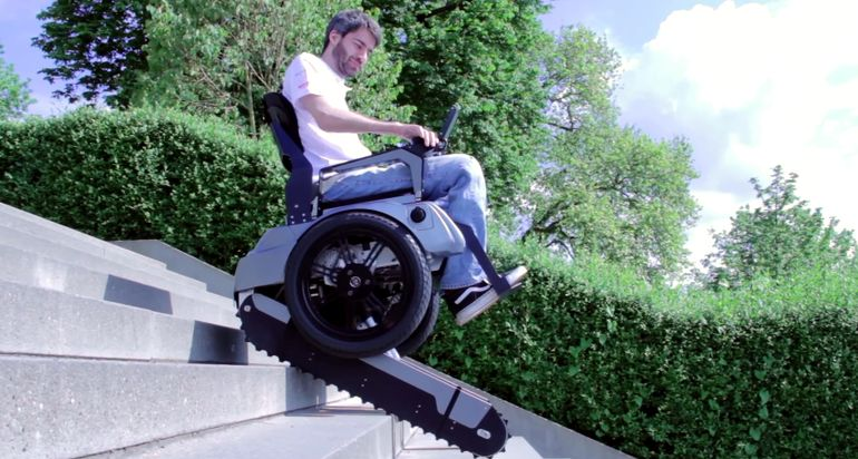 Scalevo Wheelchair Can Climb Stairs