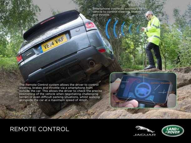 This Jaguar Range Rover Can Be Driven Using Smartphone App