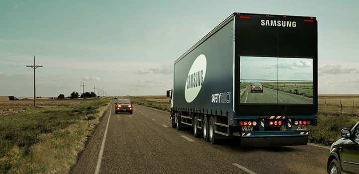 truck back display screen