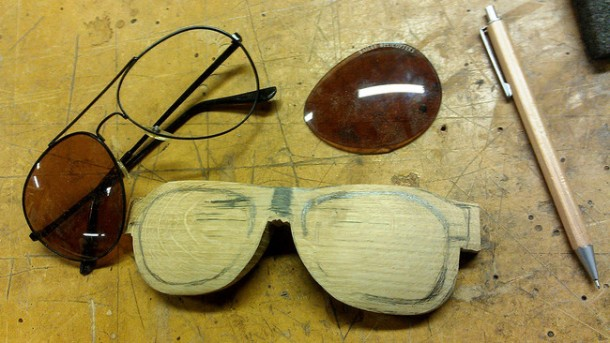 wooden glasses DIY