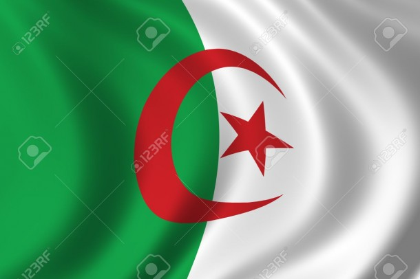 283178-Flag-of-Algeria-waving-in-the-wind-Stock-Photo