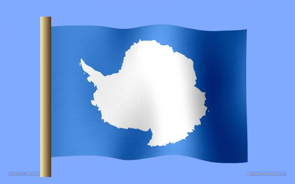 Antarctica flag, flag of Antarctica, designed by Graham Bartram in 1996. Creation: (c)2011 T. Demand, Wallpaper: 2011 T. Demand, Wpic This wallpaper is free to be used as a desktop wallpaper on your computer. Any other usage, publication, distribution is not allowed.