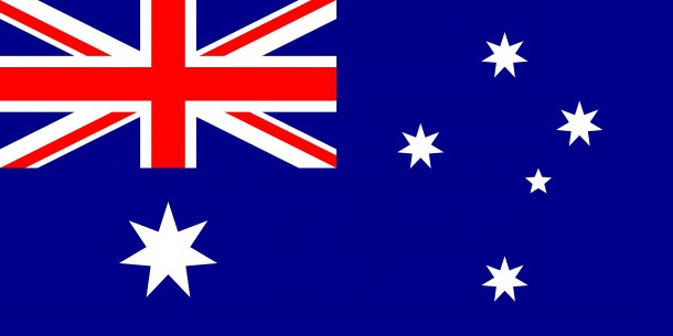 The national flag of Australia