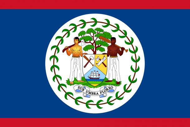 Belize Flag  (2)