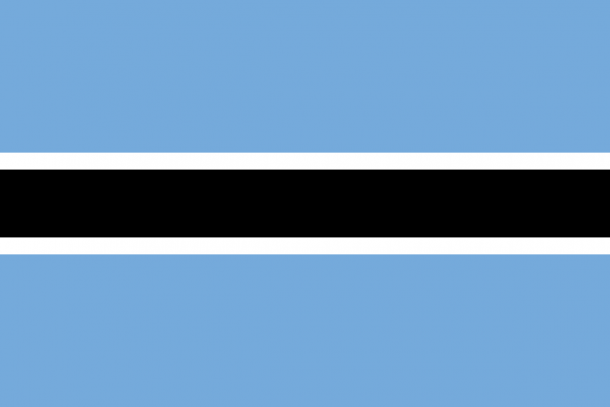 Botswana flag (2)