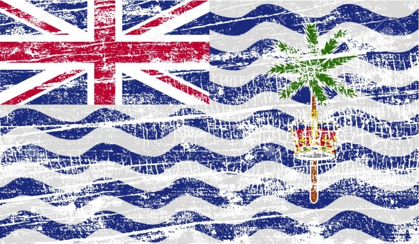 Flag of British Indian Ocean Territory with old texture. Vector illustration
