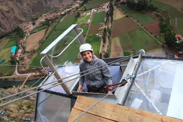 Glass Pod Strapped On A Mountain Provides Amazing View 10