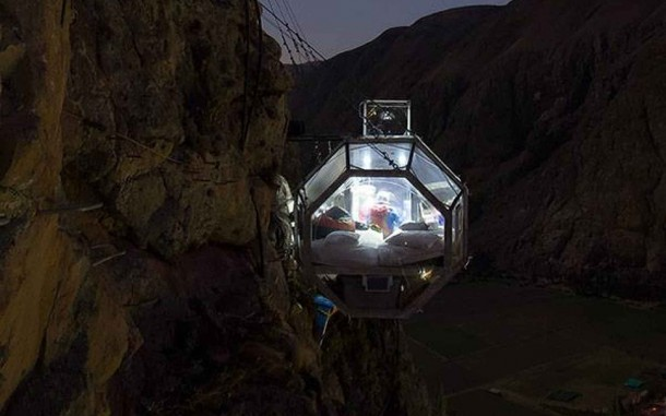 Glass Pod Strapped On A Mountain Provides Amazing View 14