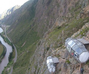 Glass Pod Strapped On A Mountain Provides Amazing View 2