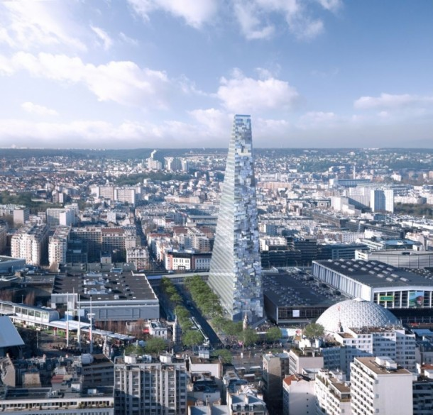 Herzog and de Meuron Design The Tour Triangle For Paris 7