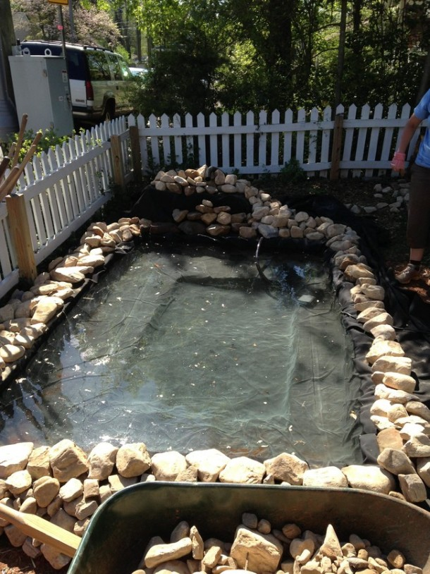 Learn How To Make An Inexpensive Pond For Your Front Yard 5