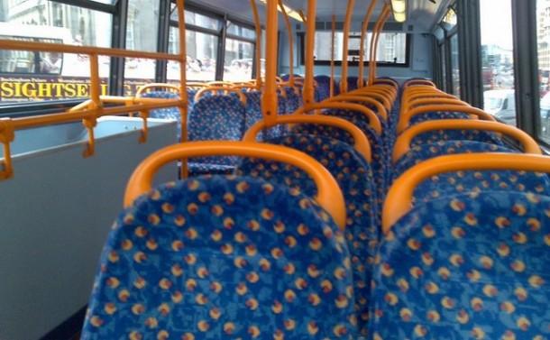 Patterned public transport seats2