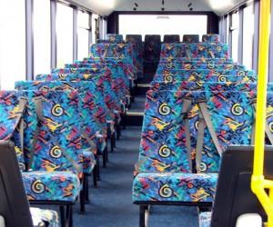 Patterned public transport seats3