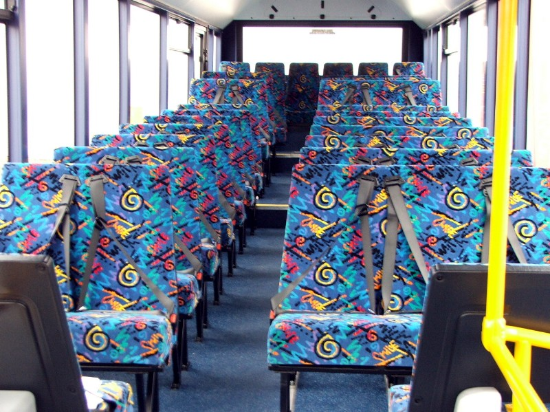 Patterned public transport seats3