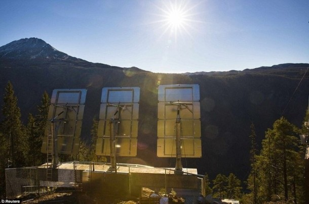 Rjukan Makes Use Of Mirrors For Sunlight 5