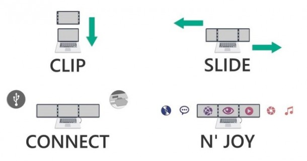 Sliden'Joy Attaches Extra Displays To Your Laptop 15