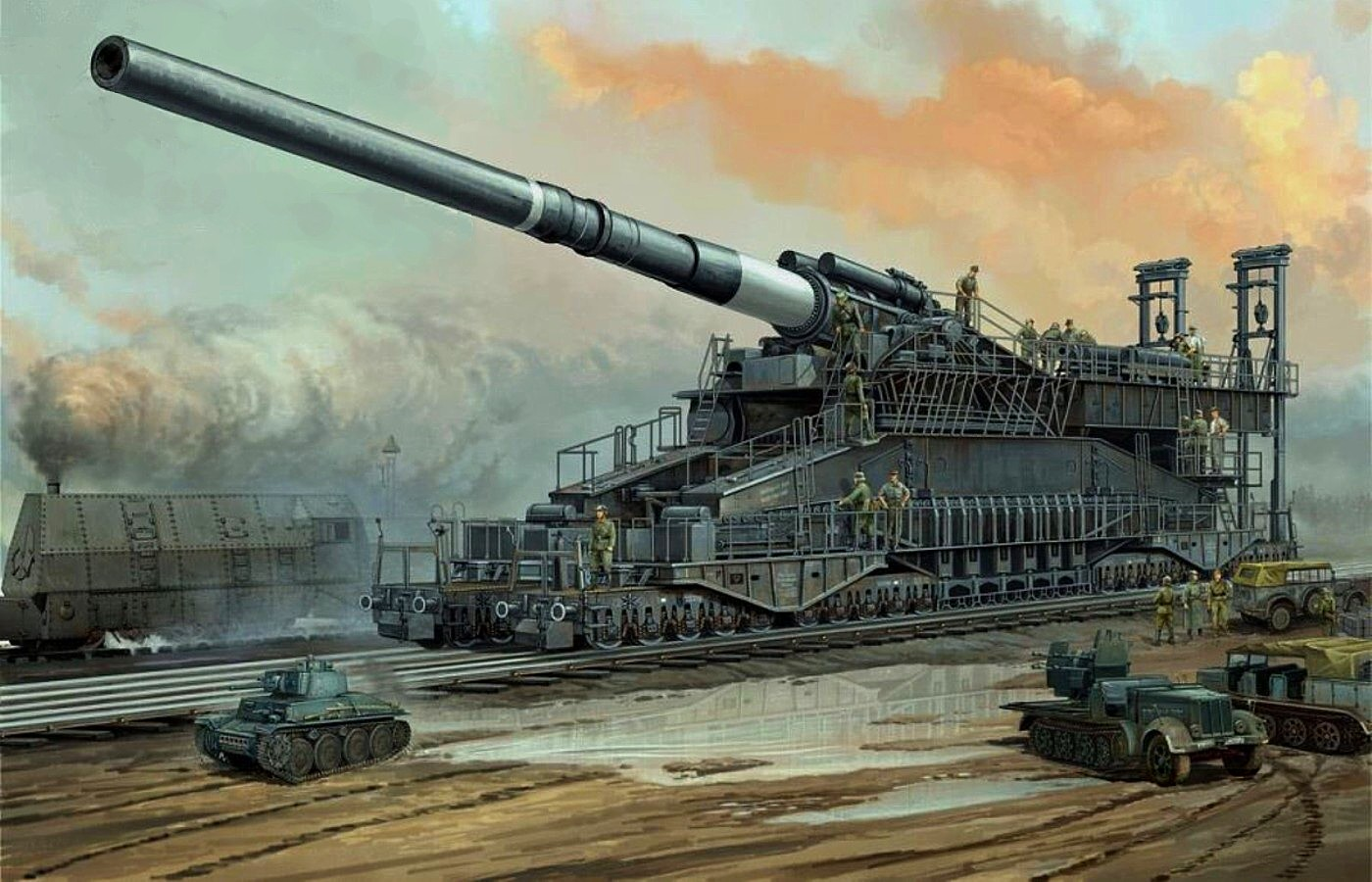 You Won't Believe But Germans Actually Built And Used This Monster Cannon In WWII
