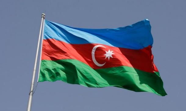 Azerbaijan flag, Baku