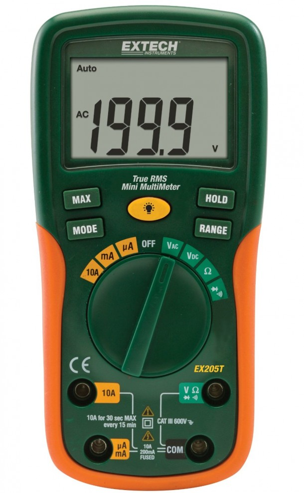 Extech EX205T True RMS Auto Ranging Multimeter