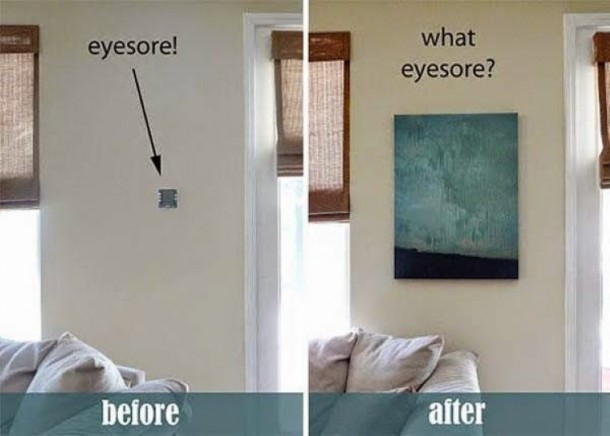DIY Guide For Hiding Ugly Things At Home 11