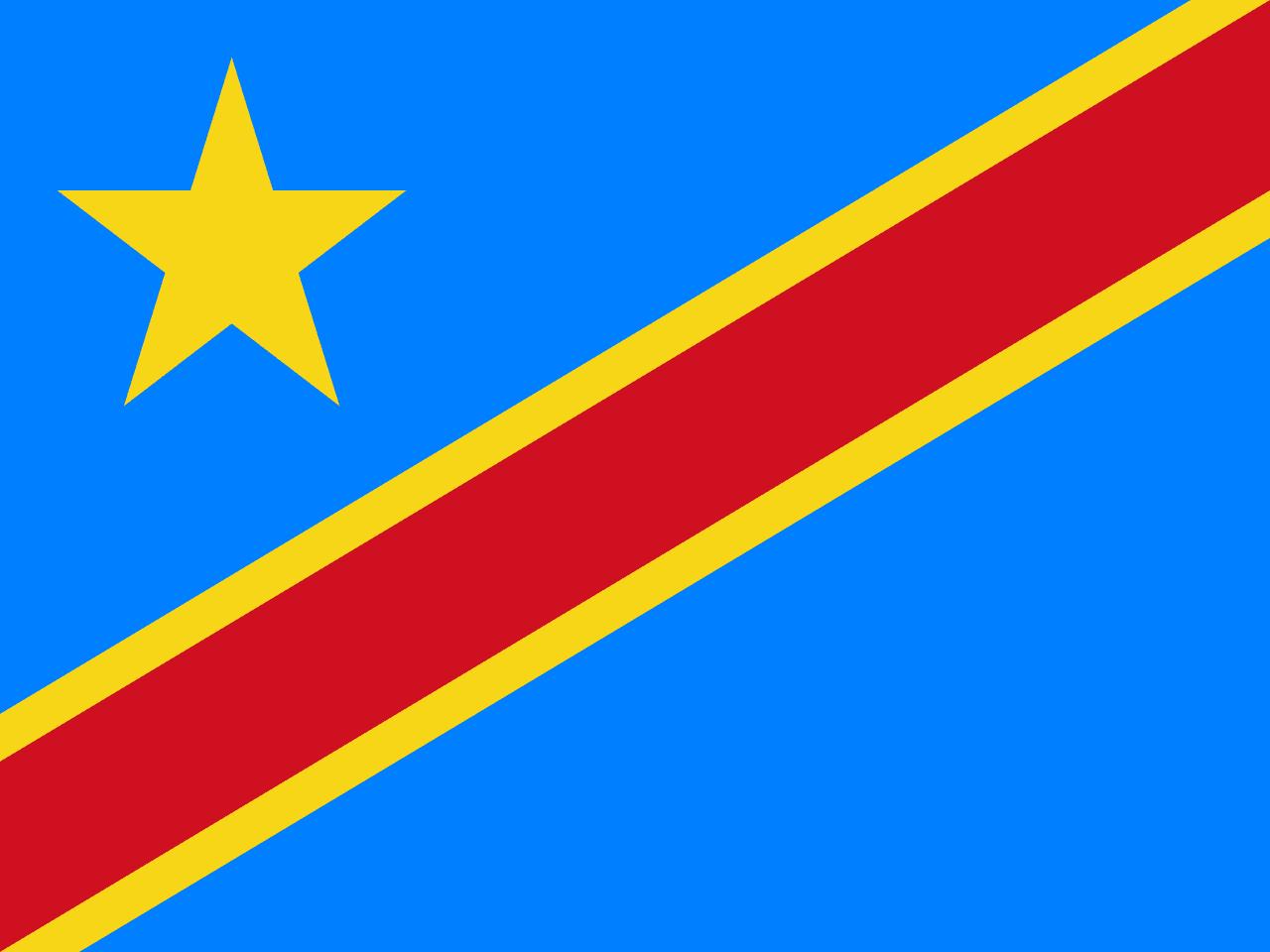 flag of the congo democratic republic the symbol of. Black Bedroom Furniture Sets. Home Design Ideas