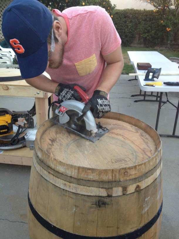 Wine barrel-table12
