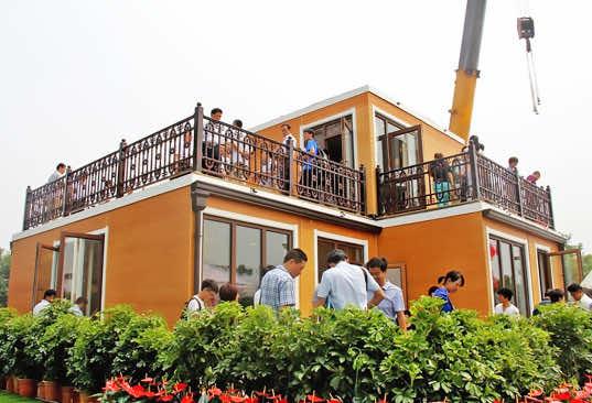 Zhuo da 3-D printed villa 3 hours