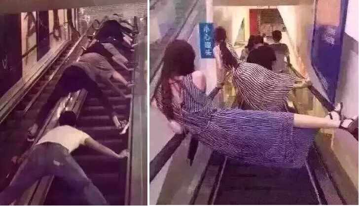 Here Is How People In China Are Riding Escalators In Crazy Ways After A Terrible Accident