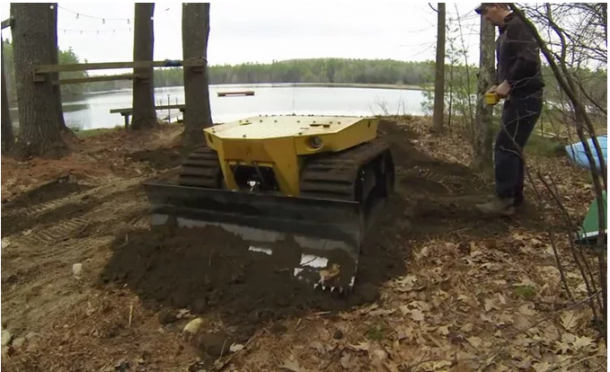 miniature bulldozer